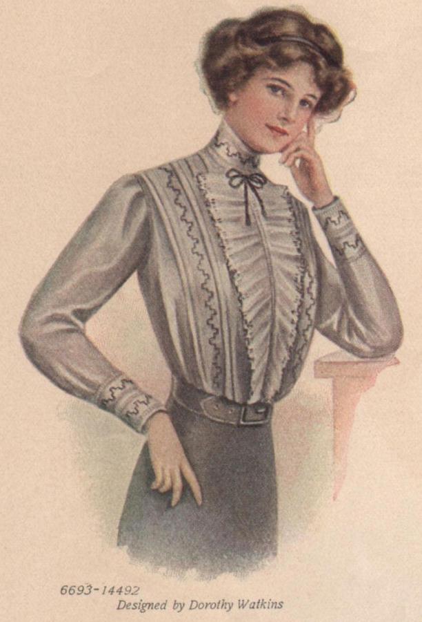 shirtwaist blouse pattern from 1915
