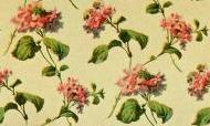 repeating rose pattern - green tones