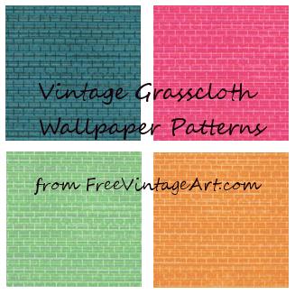 vintage grasscloth wallpaper