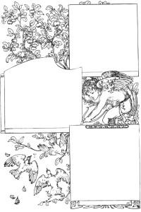 Valentine scrapbook page template