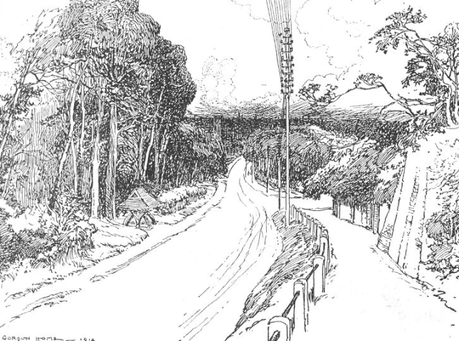 english countryside coloring page