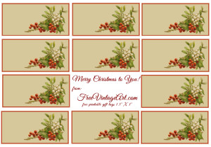 holly and mistletoe printable gift tags