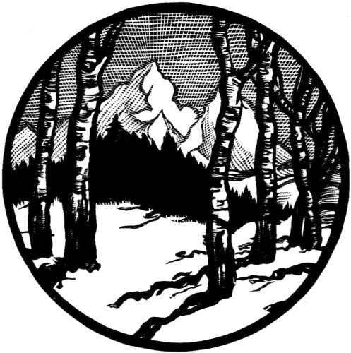 winter landscape engraving