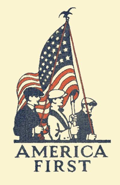 America First Vintage Book Cover & Patriotic Image