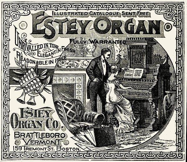 estey organ advertising image