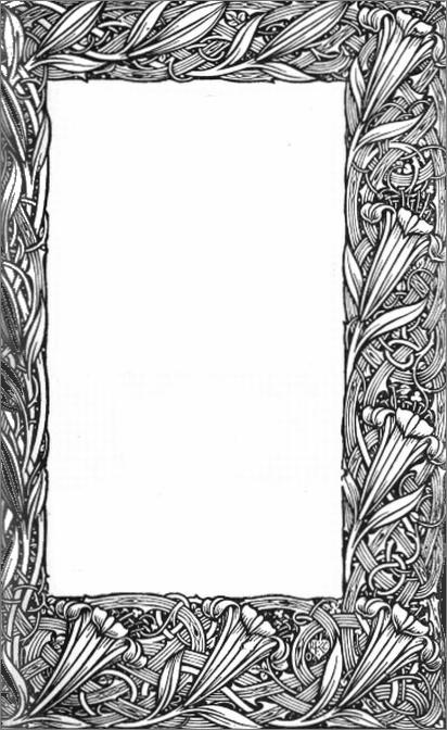 floral book plate frame