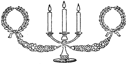christmas candelabra image with lit candles