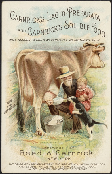 vintage baby food ad for carnricks