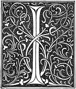 medieval letter I illustration