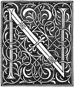 medieval letter N image
