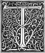 medieval letter t image