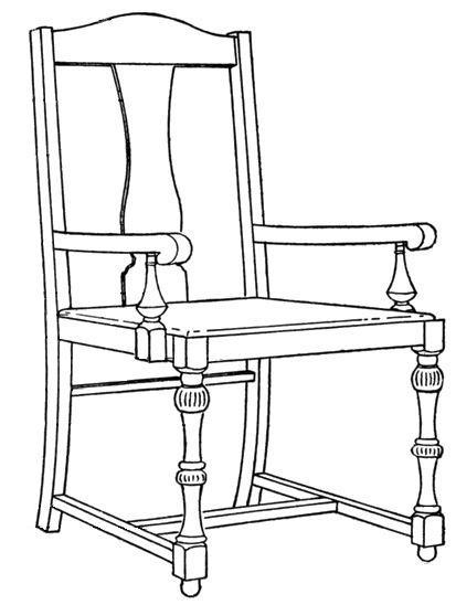 Line Drawing Chair : Continuous line drawing of chair rocking
