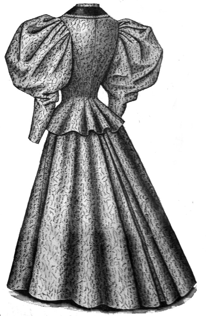 ladys gown drawing
