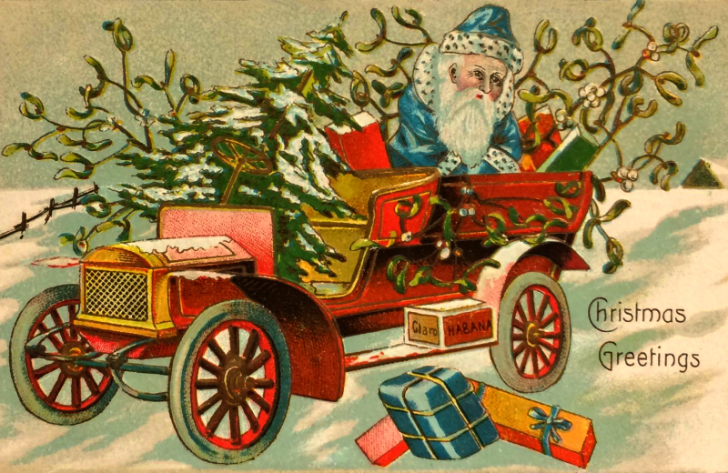 Santa's Car filled with presents