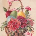 Vintage Easter Basket Greeting Card