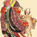 japanese woman and deer