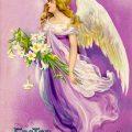 Easter Angel Vintage Clapsaddle Easter postcard